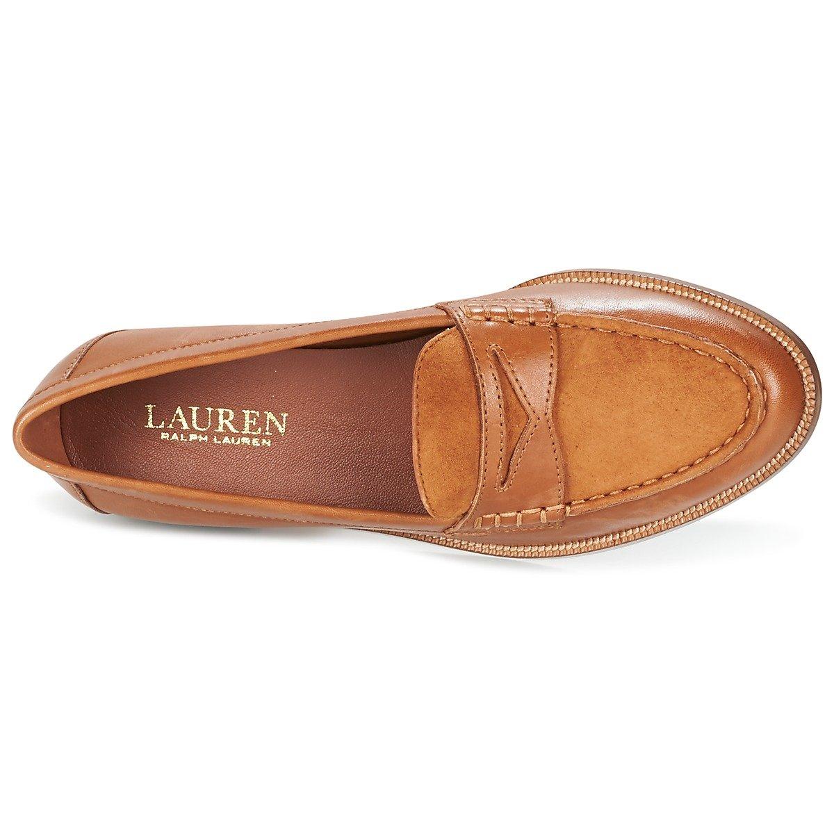 Lauren Ralph Lauren - Mocasines para Mujer coñac, Color, Talla 41 EU: Amazon.es: Zapatos y complementos