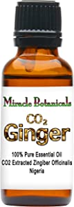 Miracle Botanicals CO2 Extracted Ginger Essential Oil - 100% Pure Zingiber Officinale - 10ml or 30ml Sizes - Therapeutic Grade 30ml