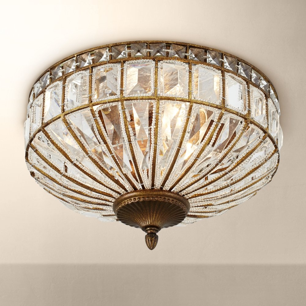 Ibeza 15 12 wide crystal mocha 3 light ceiling light amazon arubaitofo Images