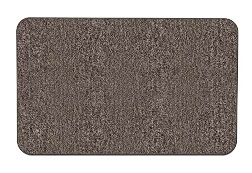 House, Home and More Skid-Resistant Carpet Indoor Area Rug Floor Mat – Pebble Gray – 5 Feet X 8 Feet