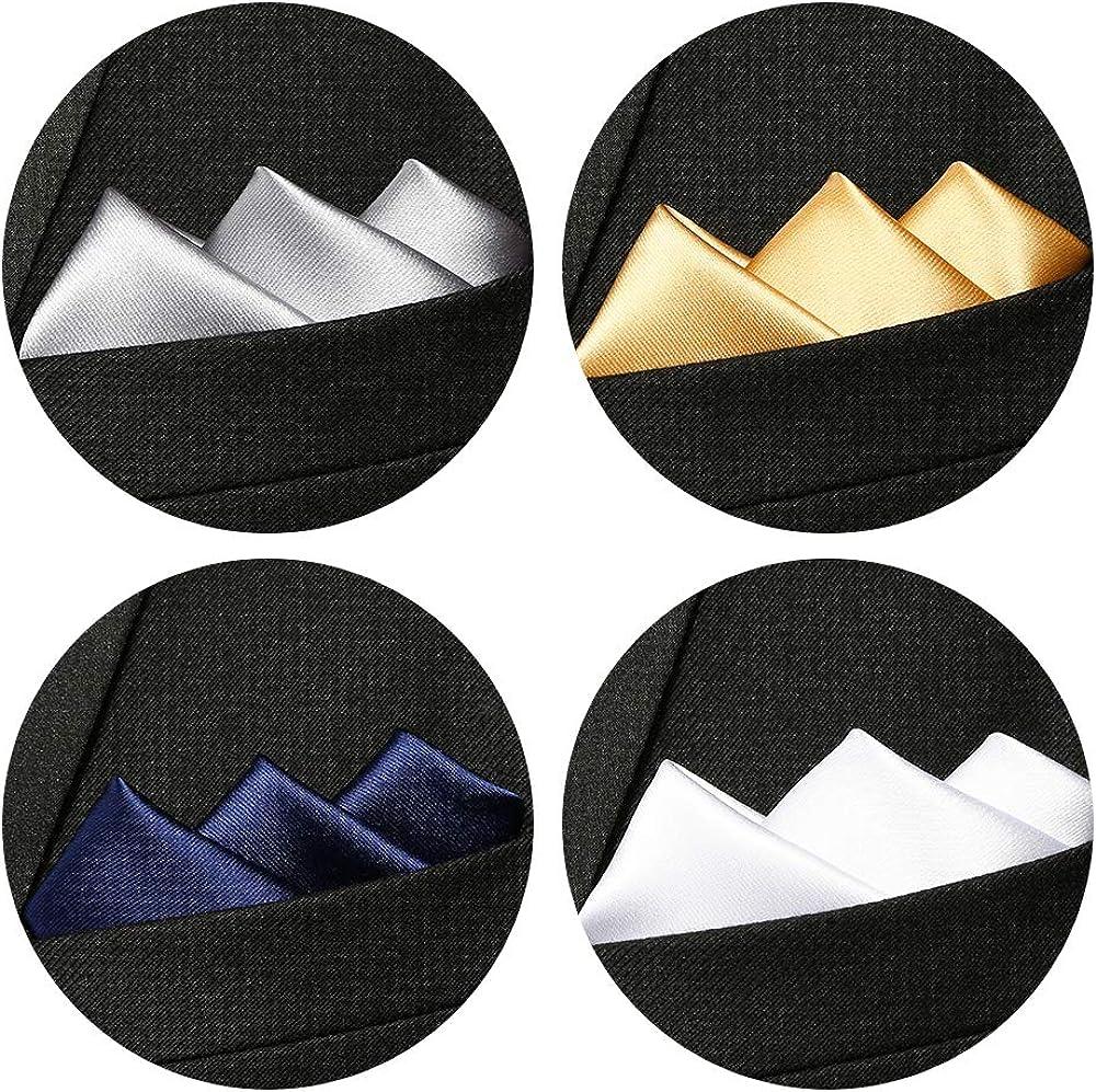 10 PCS-set3 TopTie Wholesale Mens Solid Color Pocket Squares Wedding Handkerchiefs