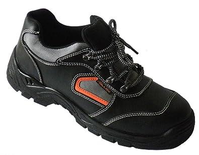 Arbeitsschuhe Sicherheitsschuhe Schuhe LC052 Schwarz Echt Leder S3 Stahlkappe Gr. 38 39 40 41 42 43 44 45 46 47