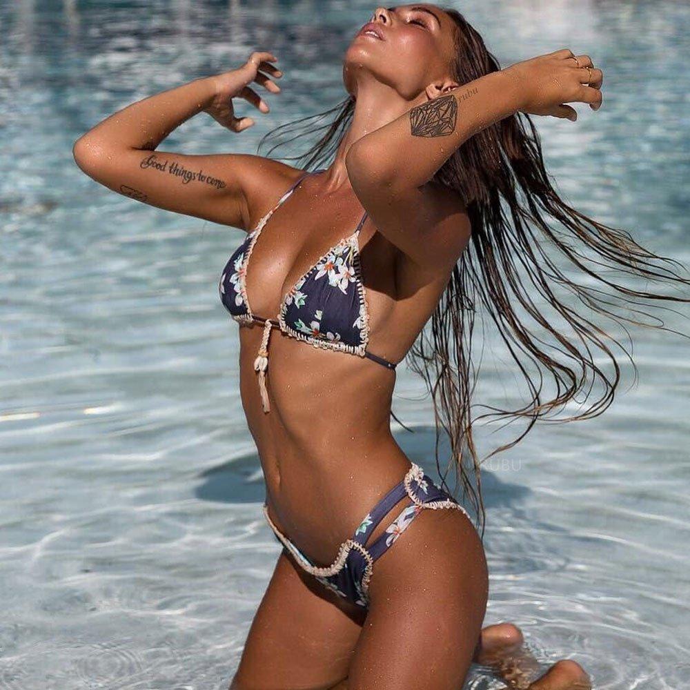 9714a8570ea Amazon.com  Women Bikini Set Hot Wugeshangmao Teen Girls  Sexy Swimwear