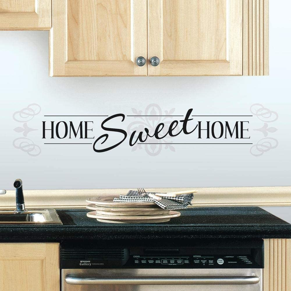 RoomMates RMK3281SCS Home Sweet Home Peel And Stick Wall Decals,Multicolor