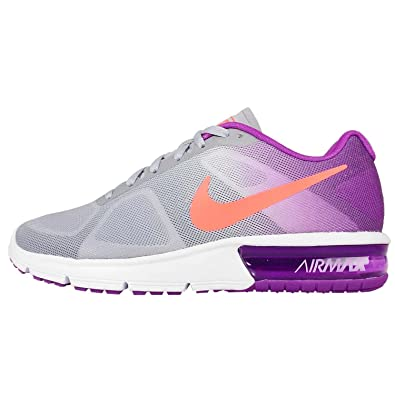 sale retailer 43c12 dcdc6 Amazon.com   Nike Women s Air Max Sequent Running Shoes Sneakers (Size  5)  (US 5, Purple Gray Orange White)   Road Running