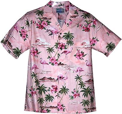 RJC - Camisa hawaiana de flamenco rosa para hombre - Rosa - X-Large: Amazon.es: Ropa y accesorios