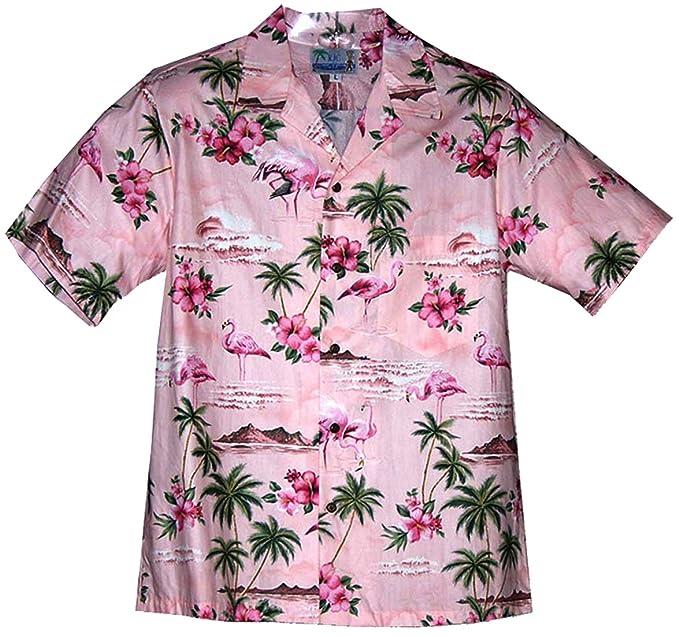 1c255bc9 RJC Men's Men's Flamingo Hibiscus Shirt: Amazon.ca: Clothing ...