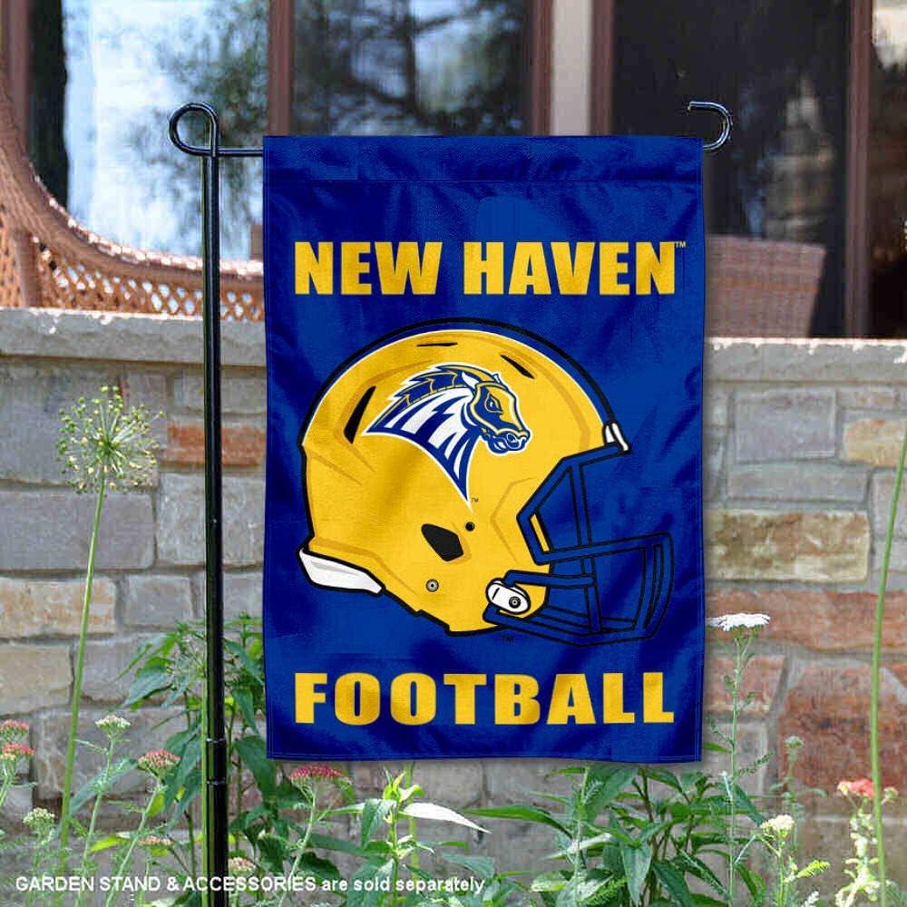 カレッジフラッグとバナーズCo. ニューヘイブン大学 フットボールヘルメット ガーデンフラッグ