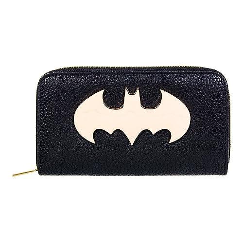 Monedero y billetera mujer Batman. logo. DC Comics: Amazon ...