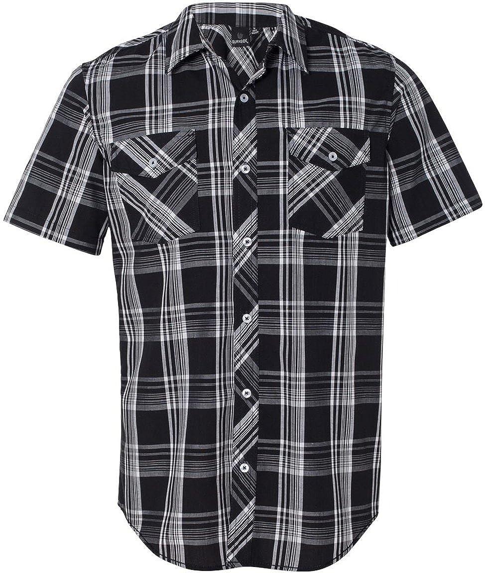 9202 Burnside Mens Plaid Short Sleeve Shirt