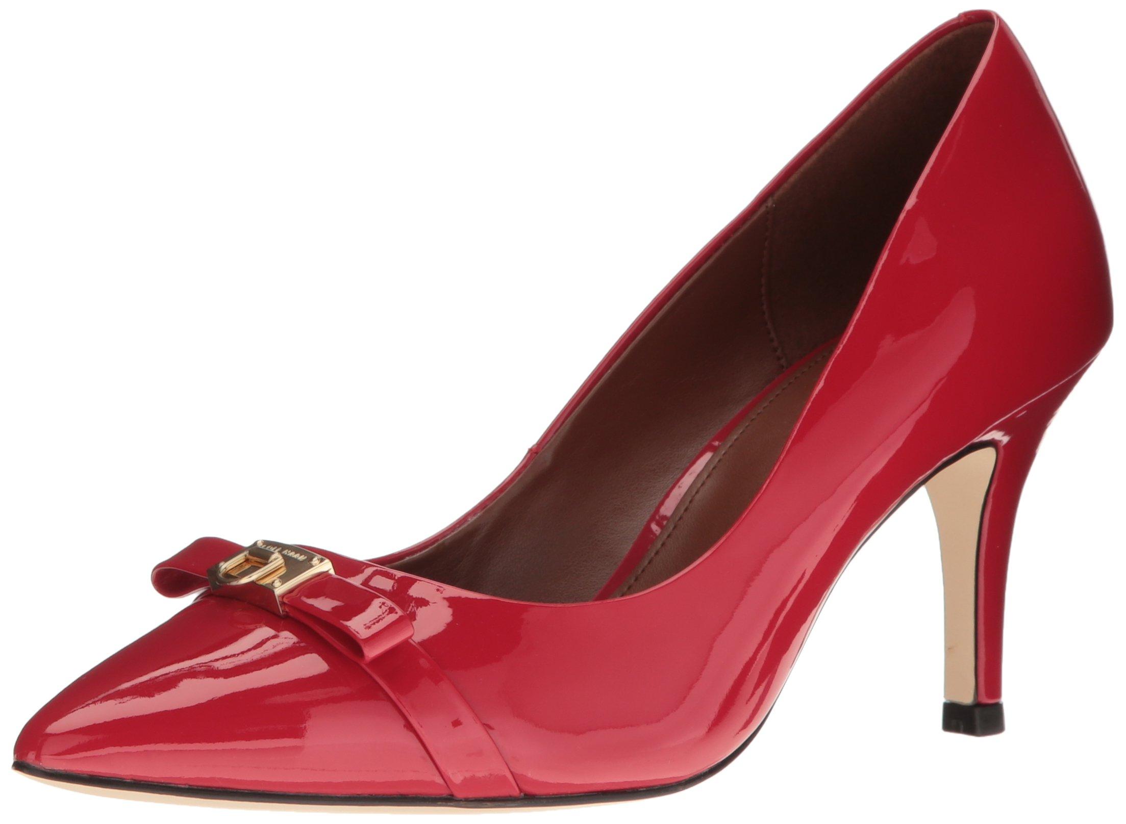 Cole Haan Women's Juliana Detail Dress Pump, Tango Red Patent, 9 B US