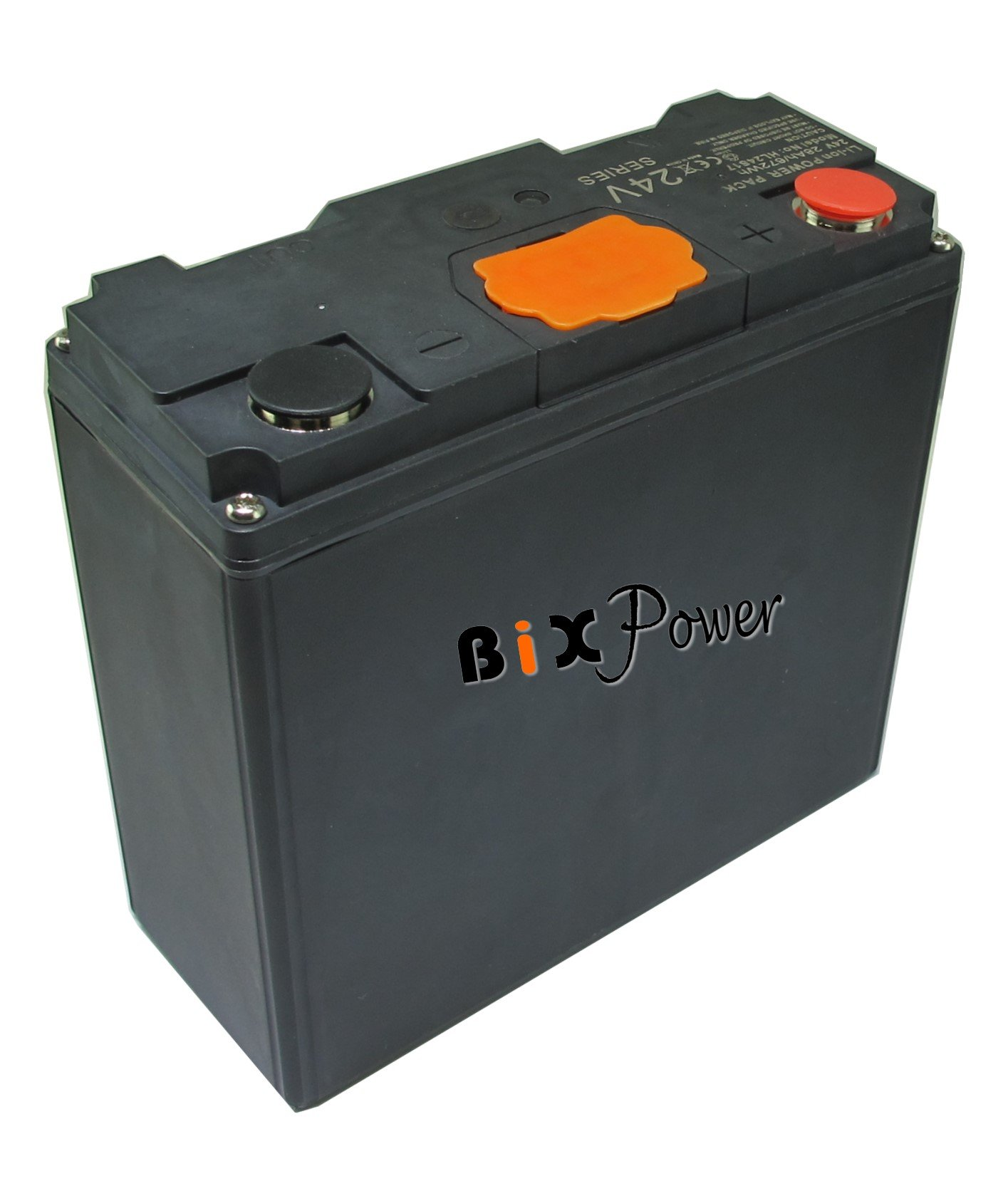 BiXPower 24V 24Ah (576 Watt-hour) Super High Capacity Light Weight Rechargeable Battery -BiXPower HL2417B by BiXPower
