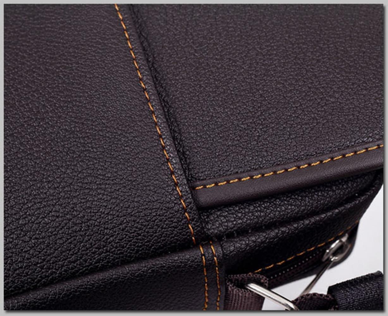Asatr Men Casual Leather Shoulder Messenger Bag for Men Work Outdoor Crossbody Bag by Asatr (Image #7)