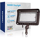 LEONLITE 100W LED Outdoor Flood Light Knuckle Mount, 1000W Eqv. 11,000lm Super Bright, CRI90+ Wall Washer, IP65 Waterproof, 5