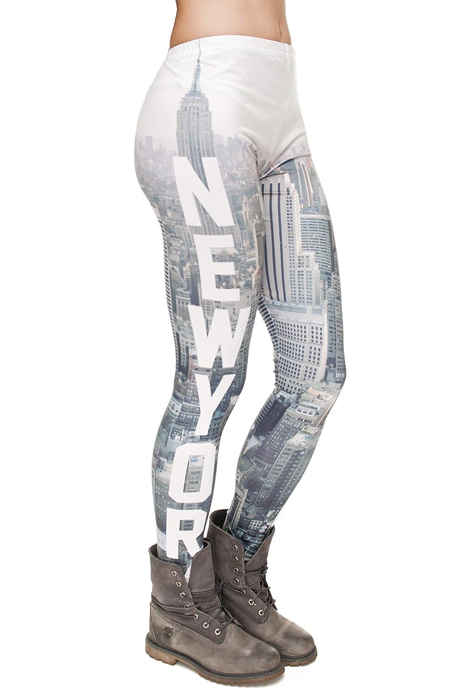 NIEWEI-YI Leggings Yoga da donna Fitness Running Pilates Collant Gym Pantaloni skinny elasticizzati costruzione