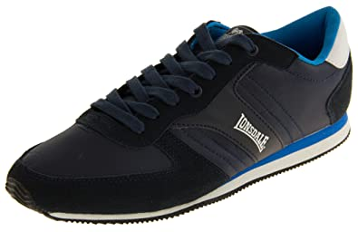 the best attitude 927e8 b996c Footwear Studio Lonsdale Mens Navy Suede Leather Textile Lace Up Casual  Trainers 9 UK