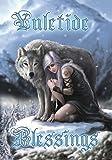 Winter Protector Fantasy Yule carte de Noël par Anne Stokes