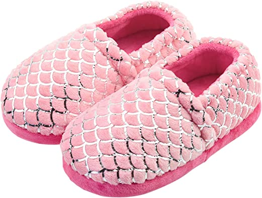Girls Cute Slippers with Rubber Soles