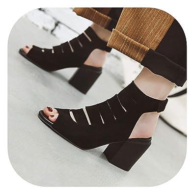 8b00618627 Amazon.com: Good-memories pumps 2019 New Summer New Shoes Woman peep ...