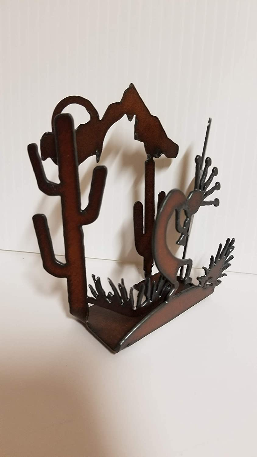 Kokopelli Night Light Made out of Rusted Steel