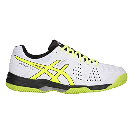 ASICS Gel Padel Pro 3 SG Blanco Amarillo E511Y 100: Amazon.es ...