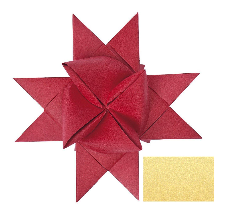 gold Ursus 3200079 100 Streifen 130 g//qm Sternstreifen aus Tonzeichenpapier 1 x 50 cm