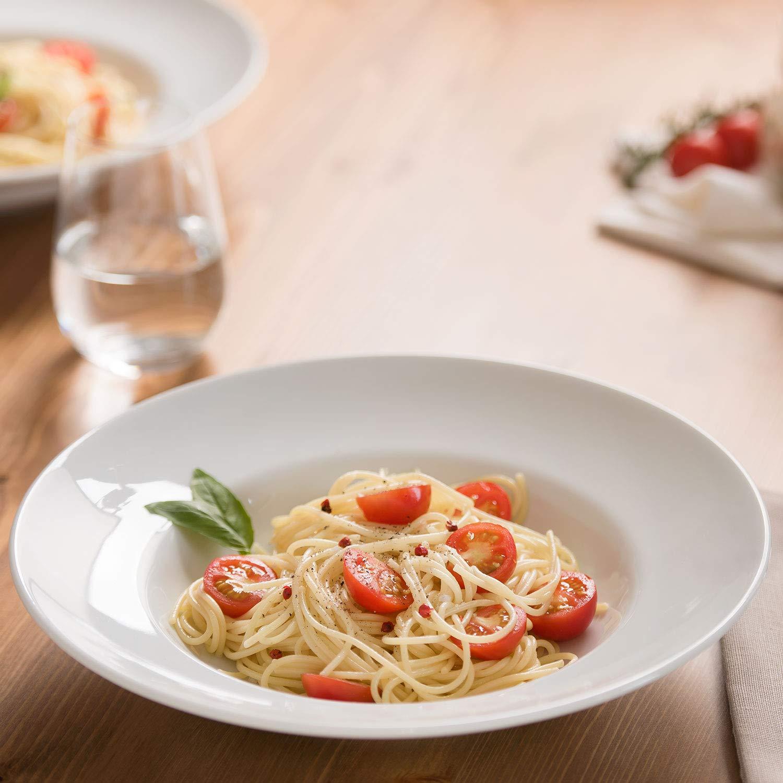Villeroy & Boch Group Vivo New Fresh Collection Plato para pasta, Set de 2, 32.2 x 32.2 x 7.5 cm, Porcelana Premium, Blanco: Amazon.es: Hogar