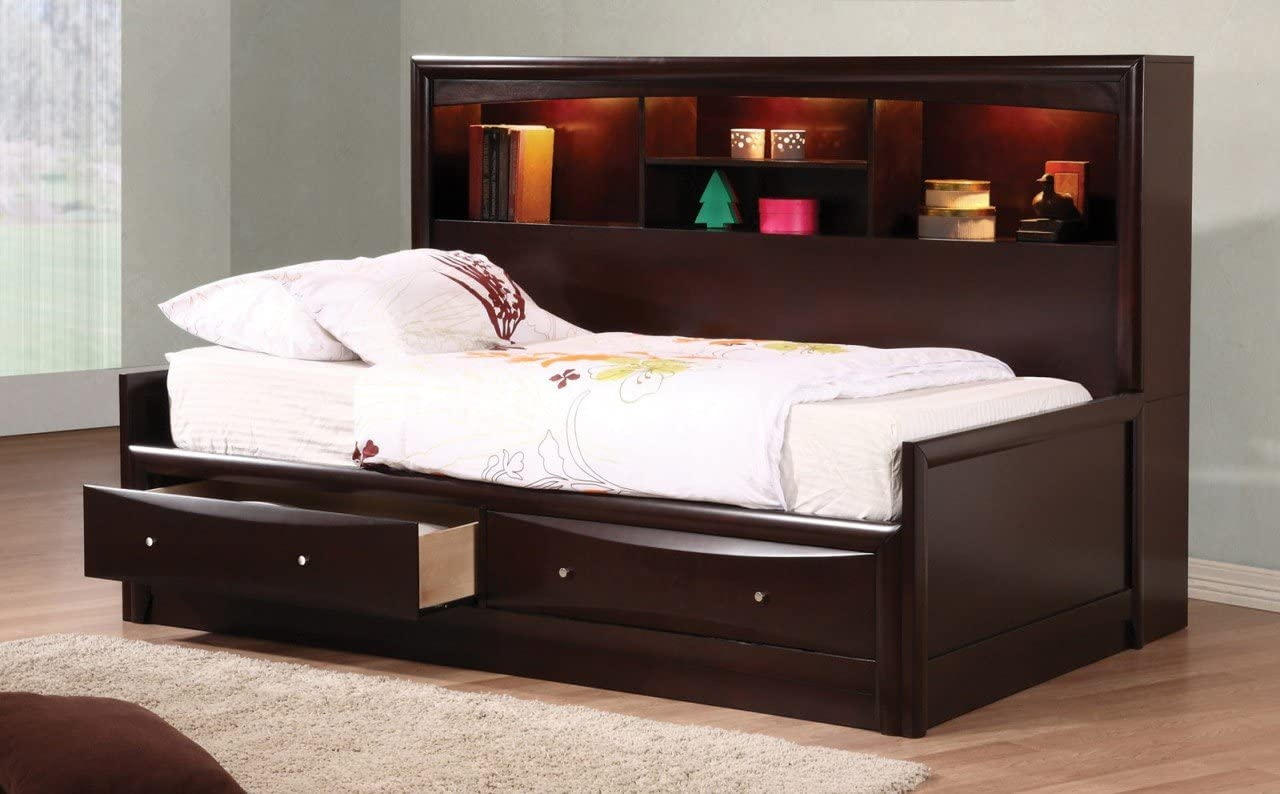 - Amazon.com: Coaster Home Furnishings Phoenix Daybed With Bookcase