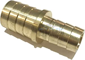"EDGE INDUSTRIAL 1"" X 3/4"" Hose ID Brass Barb Reducer SPLICER Fitting Fuel / AIR / Water / Oil / Gas / WOG (Qty 1)"