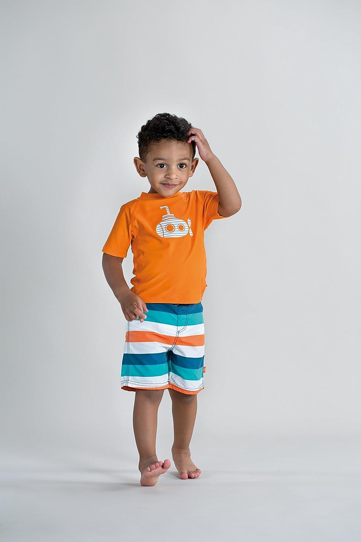 L/ÄSSIG Baby Kinder Schwimmshirt Badeshirt Kurzarm UV-Schutz//Splash /& Fun Short Sleeve Rashguard Submarine 6 Monate