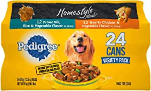 Pedigree Homestyle Choice Cuts Wet Dog Food, Variety Pack (13.2 oz, 24 ct.) (Pack of 6)