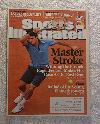 0a4dcc2d314 Roger Federer - Master Stroke - 2009 French Open Champion - Sports  Illustrated - June 15