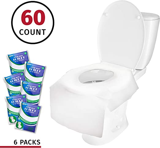 for Kids Adults and Potty Training 100-Count Toilet Seat Covers Disposable Travel Essential Travel Pack of Disposable Toilet Seat Covers 10 Packs - XL Flushable