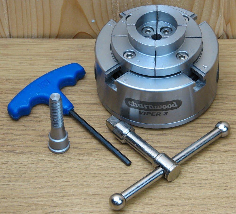 4 Jaw Geared Scroll Chuck Charnwood VIPER3 95mm Diameter