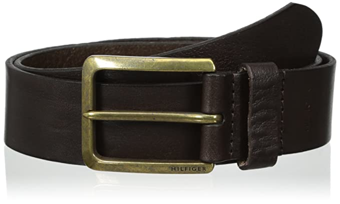 456f60e9c898 Tommy Hilfiger Men s Casual Belt With Brass-Finished Buckle at ...