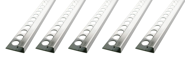 H: 10mm quadro acciaio inox V2A satinate PREMIO angoli materiale solido langolo non /è verniciato, la superficie non pu/ò staccarsi