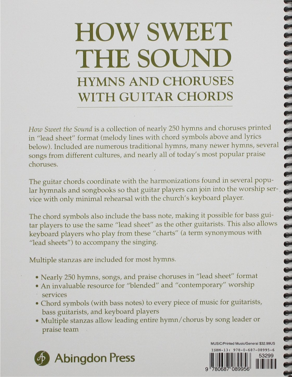 How Sweet The Sound Hymns And Choruses With Guitar Chords Abingdon