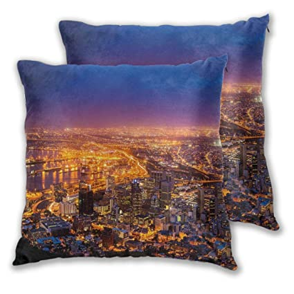 Tremendous Amazon Com Decor Pillow Covers Polyester Plush Square Throw Onthecornerstone Fun Painted Chair Ideas Images Onthecornerstoneorg