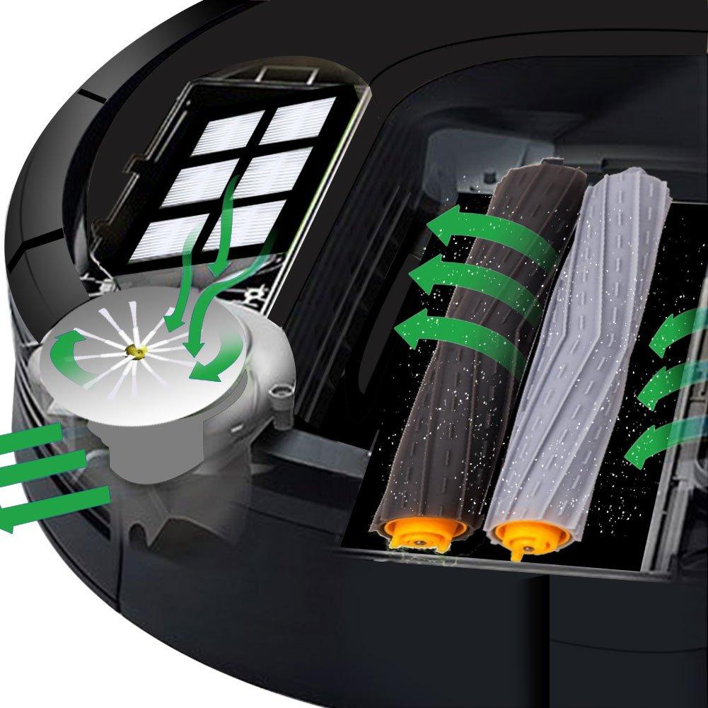 Kit de Accesorios para iRobot Roomba Recambios Roomba Series 800 ...