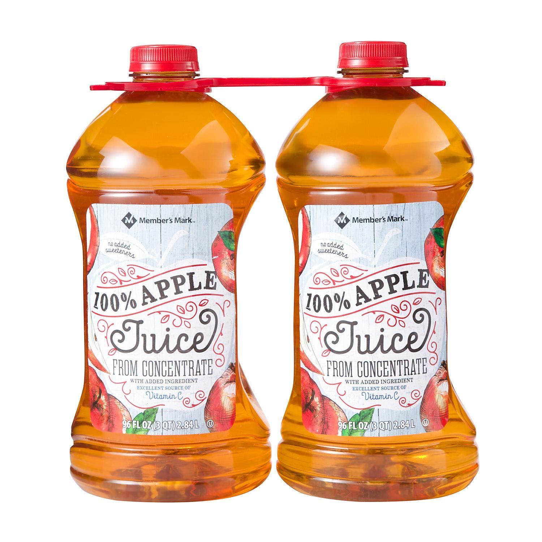 Member's Mark 100% Apple Juice (96 oz. bottles, 2 pk.)