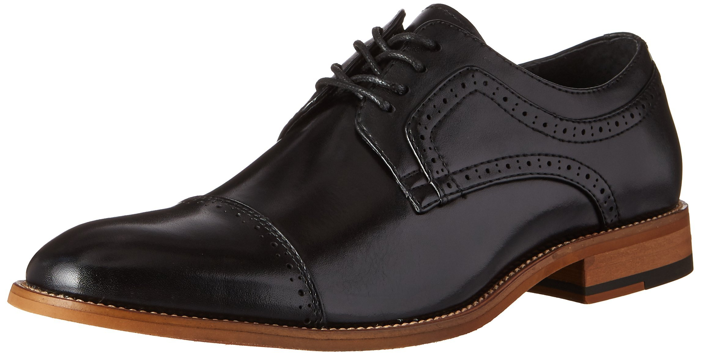 STACY ADAMS Men's Dickinson Cap Toe Oxford, Black, 11.5 M US by STACY ADAMS
