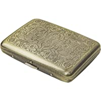 RFID Blocking Credit Card Holder/Protector - Best Retro Bronze Metal/Stainless Steel Travel Wallet/Case for Men & Women