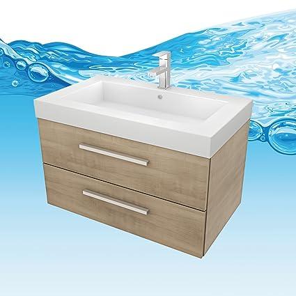 Amazon.de: Waschtisch mit Waschbecken, Unterschrank City 101 80cm ...