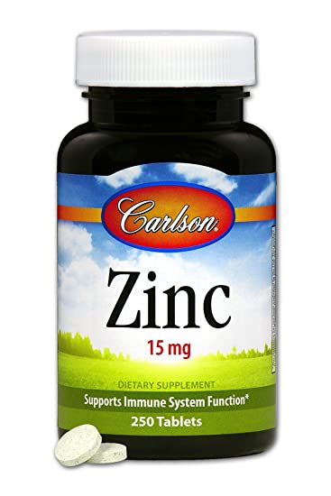 Amazon Com Carlson Labs Zinc 15mg 250 Tablets Health Personal Care