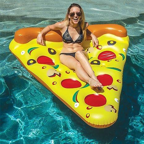LUSTAR Flotador Inflable De La Piscina De La Pizza Fila Flotante De La Pizza Gigante De