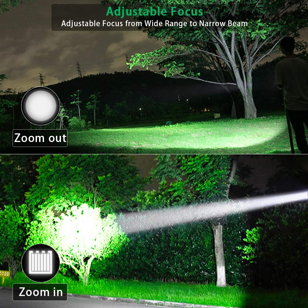 USB Rechargeable Torch iToncs Magnetic COB Work Torches LED Super Bright Torch with 4 Modes for Outdoor Camping Hiking Sports