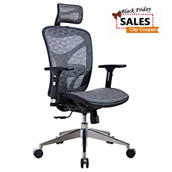amazon com lscing ergonomic recliner mesh office chair with