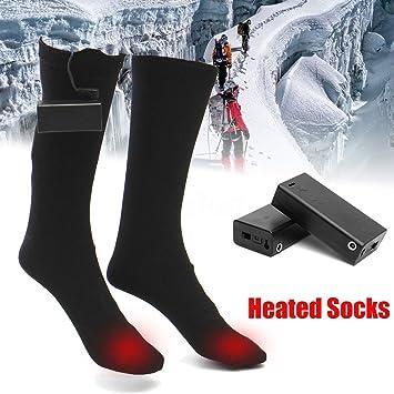 ZooArts® Calcetines de bota calefactables a pilas (1 par): Amazon.es: Deportes y aire libre