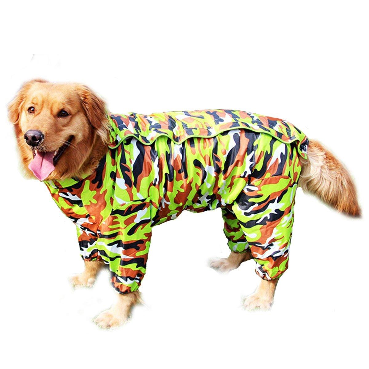 Cane impermeabile Tuta impermeabile a quattro zampe Cani di taglia media e grande Golden retriever Labrador Impermeabile per cani di grossa taglia Vestiti da compagnia impermeabili , yellow , 30 shanzhizui