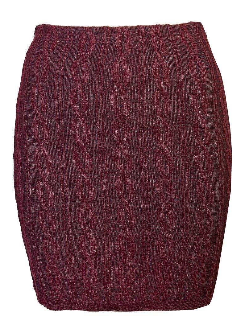 Love Lola - Falda - para Mujer Rojo Granate S/M: Amazon.es: Ropa y ...